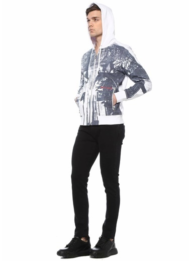 Alexander McQueen Alexander McQueen   Kapüşonlu Batik Desenli Sweatshirt 101639480 Antrasit